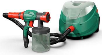 Выбираем производителя. Электрический краскопульт Bosch PFS 105 немецкого производства с прозрачным нейлоновым бочком для краски.