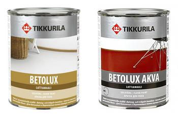 Tikkurila, Betolux и Betolux Akva.