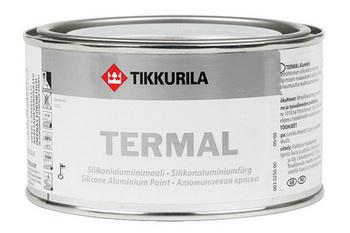 Силиконо-алюминиевая краска Tikkurila Termal.
