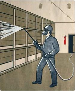 Соблюдение правил безопасности при нанесении вспучивающихся красок.