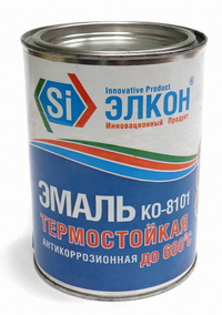 Термостойкая антикоррозийная эмаль Elcon КО-8101.