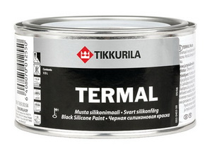Термостойкая чёрная силиконовая краска Tikkurila Termal.