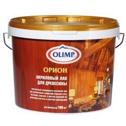 Акриловый аквалак для древесины от производителя Олимп.